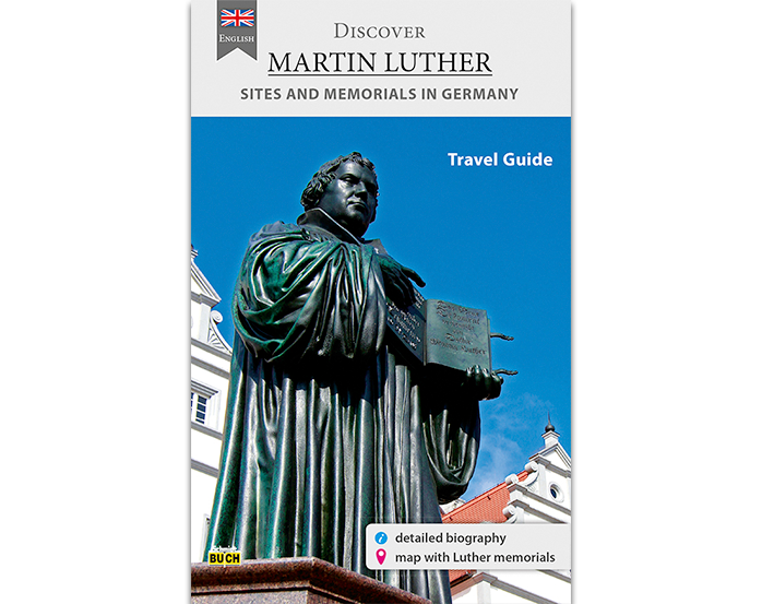 Titelseite des Reiseführers Discover Martin Luther Travel Guide